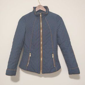 H&M | Blue Quilted Puffer ZIP UP Jacket Coat 32EUR